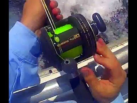 TLD - This video shows the TLD-20 closer. I let my lines go behing the boat after a long fishing day to reel them tighter on the spool. TLD-20 is such a great reel...