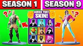 SEASON 1 SKIN vs SEASON 9 TRIVIA (Fortnite)