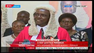 NewsCenter: Chief Justice Maraga's first official speech as the Chief Justice of Kenya 19/10/2016