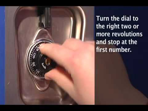 1630 Built-In Combo Lock How to Open - Training