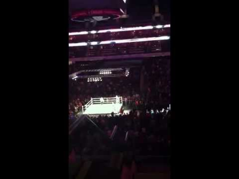 Wwe VIP seating and cm punk speech