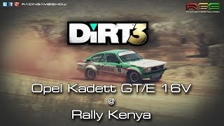 DiRT3 | Opel Kadett GT/E 16V | Rally Kenya | Historic Car