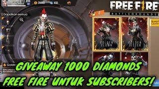 🔴 GIVEAWAY 1000 DIAMOND FF SYARAT TINGGAL SUBSCRIBE!!