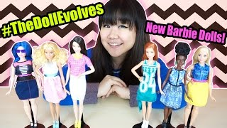 New Fashionista Barbie Dolls - More Body Types & Diversity - #TheDollEvolves