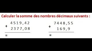 Maths 6ème - Les opérations : Addition Soustraction Multiplication Division Exercice 2