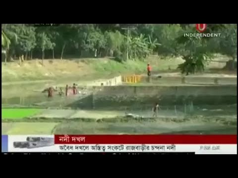 Illegal structures encroach on Chandana River (14-01-2018)