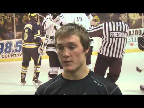 Freshman Forward Nolan LaPorte talks about his first 2 games at Lawson, and his first career goal in the Broncos' 3-2 win over St. Lawrence Saturday night