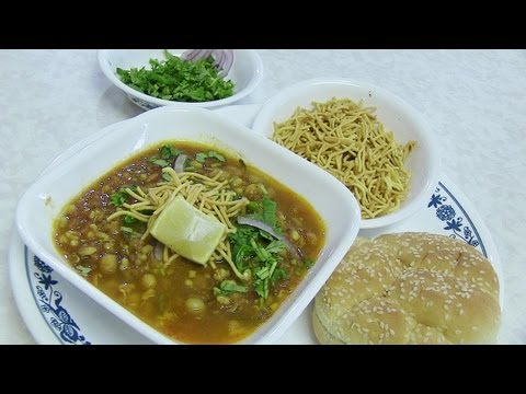 Misal Pav or Matki Usal Recipe – Spicy curry with buns bread – Indian Recipes by Bhavna