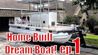 Video Custom Built Fishing Pontoon the LUCILLE IV (part 1of4) MP3, 3GP, MP4, WEBM, AVI, FLV Juni 2019