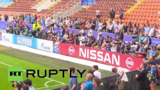 The Champions League's most successful team Real Madrid held its final practice session at the San Siro stadium in Milan, Friday, ahead of the competition's ...