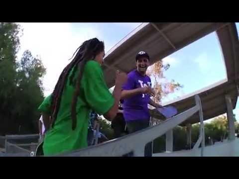 Nyjah Huston At P-Rods Skate Park