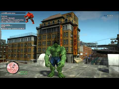 Green Hulk Vs Red Hulk Gta Iv Mod By Julionib Red Hulk Skin By Me