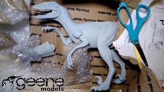 This highly detailed Velociraptor is modeled after the Jurassic Park and Jurassic World style of raptor, which is about as tall as a human and does not have feathers. It is made by the Geene Models company.My Facebook https://www.facebook.com/xINVISIGOTHxMusic by Kevin MacLeodUnboxing and review of unpainted, un-assembled resin model velociraptors kit in 1:6 scale size by geenemodels