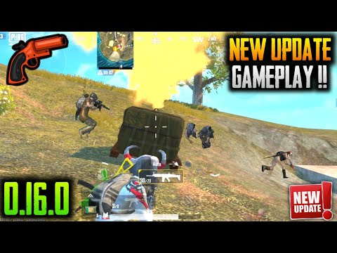 PUBG MOBILE LITE NEW UPDATE 0.16.0 GAMEPLAY - FLARE GUN - NEW VRENGA … видео
