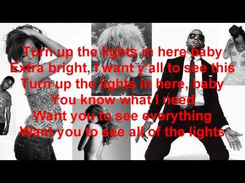 All Of The Lights-Kanye West, Rihanna, Fergie, Kid Cudi, Alicia Keys, Elton John-Lyrics On Screen