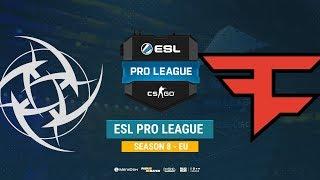 NiP vs FaZe - ESL Pro League S8 EU - bo1 - de_overpass [Mintgod, Gromjke]
