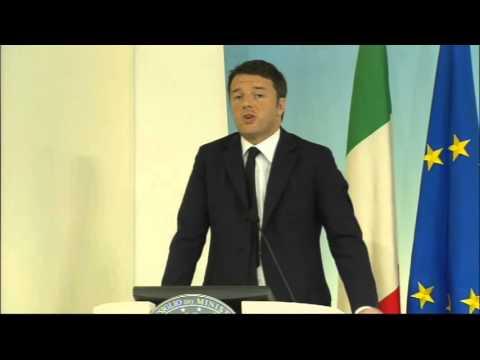 Attentati Parigi: dichiarazioni del Presidente Renzi