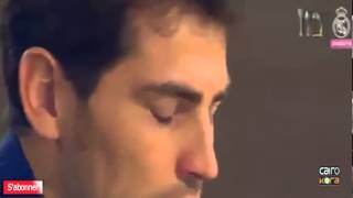 Iker Casillas Cries During His Farewell Ceremony HD