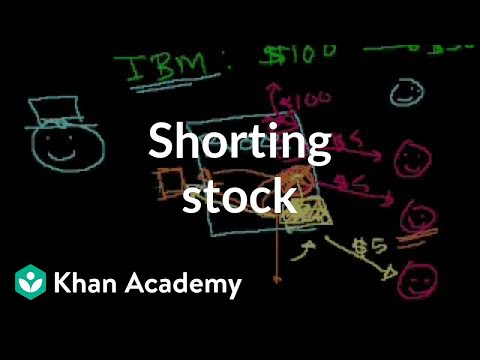 Shorting Stock Video Stocks And Bonds Khan Academy