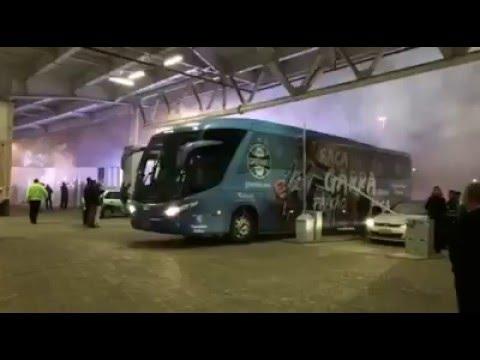 Gremio x LDU - Chegada Grêmio - Geral do Grêmio - Grêmio