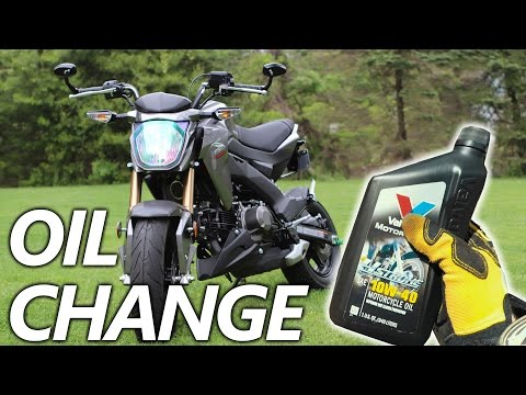 How To Change The Oil On The Kawasaki Z125 Pro