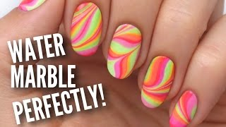 Water Marble Your Nails Perfectly! - YouTube