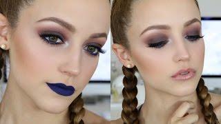 Pop of BLUE | Makeup Tutorial + 2 Lip Options! by Kathleen Lights