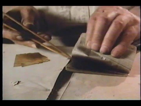 Master craftsman creates gold leaf from furnace to foil.