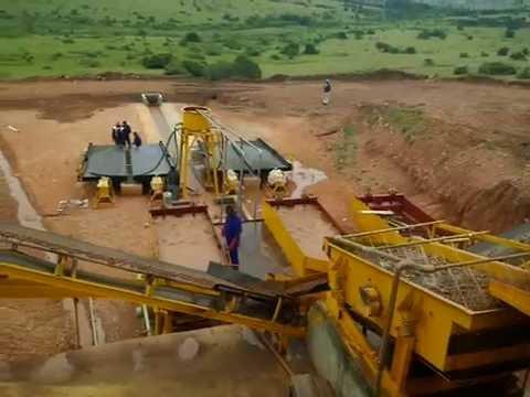 alluvial coltan ore mining plant in Uganda