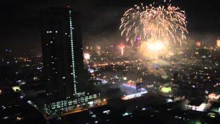 New Years Eve 2014 / 2015 - Fireworks over Quezon City, Manila, Philippines