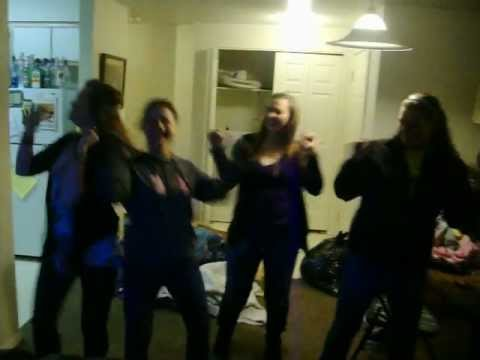 Girls Dancing to Arab Money