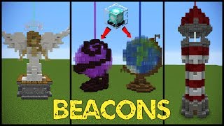 11 Minecraft Beacon Designs! You asked for some minecraft beacon designs - so we made some! Hope you like them, there are quite a lot of weird ones but eh its minecraft what do you expect! Thank you to Pearl and HappyJellyFish for their help making this video!Follow me!- Twitter: https://twitter.com/GrianMC- Facebook: https://www.facebook.com/GrianMC- Twitch: http://www.twitch.tv/Grianmc- Instagram: https://www.instagram.com/grianmc/-Powered by Chillblast: Chillblast.com