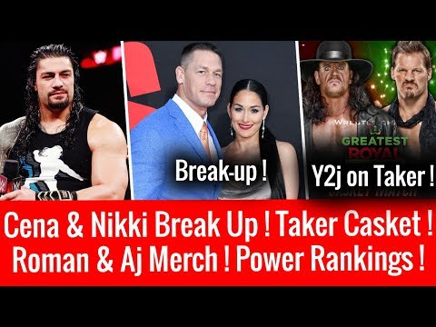 John Cena & Nikki Bella Break Up ! Roman Reigns & Aj Styles Merch Sale ! Undertaker ! Rusev Leave ?