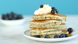 Lemon-Poppy Seed Cloud Pancakes - Everyday Food with Sarah Carey by Everyday Food