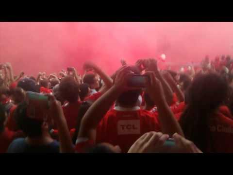 Independiente vs Racing (1-1) / recibimiento 2016 - La Barra del Rojo - Independiente - Argentina - América del Sur