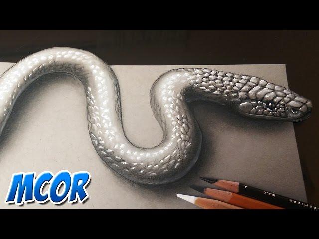Como-dibujar-una-serpiente-3d