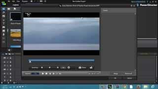 دورة cyberlink powerdirector r12 - شرح قطع الفيديو أو المشهد