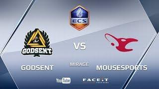 GODSENT vs mousesports, mirage, ECS Season 4 Europe