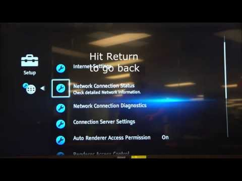 Sony Bluray 2014 Wireless Manual IP/DNS Entry
