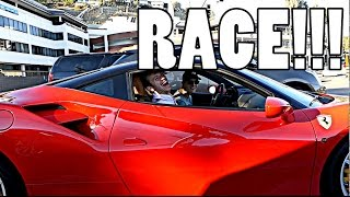 RECREATING FAST & FURIOUS DRAG RACE WITH FERRARI!!! by Supercars of London