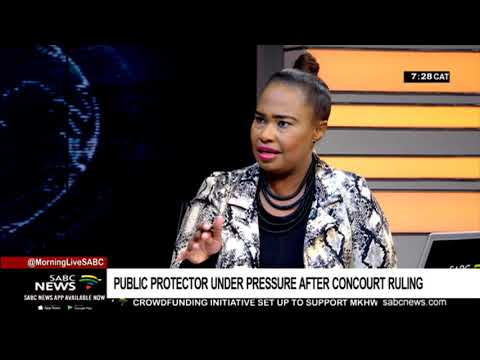 Public Protector Under Pressure After Concourt Ruling