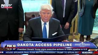WATCH: Donald Trump Signs Executive Orders to Advance Approval of Dakota Access Pipeline