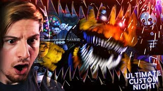 UH.. WHY ARE WE IN AN ANIMATRONICS MOUTH. (+ 20/20 mode win!) || FNAF: Ultimate Custom Night