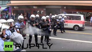 Szwajcaria: Policja strzela do zwolenników przyjmowania uchodźców
