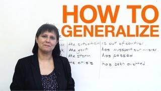 How to Generalize, Conversational English