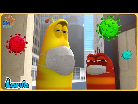 LARVA COVID-19  - Larva Cartoons 2021   Full Episode Compilation 🍟 Stop Motion Animation Cartoon