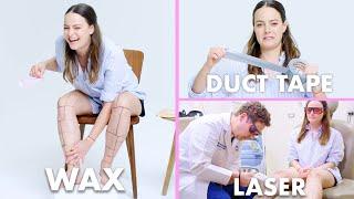 Video Every Method of Leg Hair Removal (21 Methods) | Allure MP3, 3GP, MP4, WEBM, AVI, FLV Juni 2019