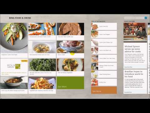 Windows 8.1 New Apps – Hands Free Cooking with Food and Drink