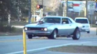 Fun With A Super Street 500hp Blown 1968 Chevy Camaro, Burnouts&Street Racing