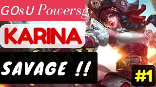 Savage !!!! [Rank 7 Karina]  Karina Gameplay and Build By ɢᴏsᴜ Powersg #1 Mobile Legends.https://www.youtube.com/watch?v=-JKlMFQKs6s#MLBB #Karina #Gosu #Powersg #Toprank #Topranked #Rank7Player            : ɢᴏsᴜ PowersgTeam             : Asura.Battle Spells : RetributionBuild              : Clock Of Destiny, Arcane Boots, Concentrated Energy, Holy Crystal, Devil Tears, Immortality.More Videos: Grind 'Em All [Rank 4 Fanny]  Fanny Gameplay and Build By ᴢxυαи εϊɜ #6 Mobile Legends.https://youtu.be/fQ5KdMJXOdMPhantom Dancer [Rank 1 Natalia]  Natalia Gameplay and Build By §{ASHEN ONE}§ #1 Mobile Legends.https://youtu.be/FJ_s43vFkD8Immortal Beast [Rank 1 Roger]  Roger Gameplay and Build By ☆AcE☆ðạ i én #2 Mobile Legends.https://youtu.be/jhvX8BYmZiUMeta Build [Rank 3 Sun]  Sun Gameplay and Build By [GWGB] TwjJc Mobile Legendshttps://youtu.be/X4sxHoeJXzkBromance Combo [Rank 1 Alucard]  Alucard Gameplay and Build By ◤Saiyan◢ Fredo #5 Mobile Legends.https://youtu.be/uTLrZhOwUJYIndonesia VS Malaysia [3rd Game 200717] National Arena Contest Mobile Legends.https://youtu.be/QC3juaqDn2I==============================================Music :Intro and outro:Warriyo - Mortals (feat. Laura Brehm) [NCS Release] https://www.youtube.com/watch?v=yJg-Y5byMMwConnect with NCS:Snapchat: ncsmusic• http://soundcloud.com/nocopyrightsounds• http://instagram.com/nocopyrightsounds• http://facebook.com/NoCopyrightSounds• http://twitch.tv/nocopyrightsounds• http://twitter.com/NCSounds• http://spoti.fi/NCSWarriyo• https://soundcloud.com/warriyo• https://www.facebook.com/WarriyoMusic/• https://twitter.com/warriyo• https://www.youtube.com/WarriyoMusicLaura Brehm• https://soundcloud.com/laurabrehm• https://www.facebook.com/laurabrehmmusic• https://twitter.com/laurakbrehm• https://www.youtube.com/user/laurabrehmJoin your friends in a brand new 5v5 MOBA showdown against real human opponents, Mobile Legends! Choose your favorite heroes and build the perfect team with your comrades-in-arms! 10-second matchmaking, 10-minute battles. Laning, jungling, tower rushing, team battles, all the fun of PC MOBAs and action games in the palm of your hand! Feed your eSports spirit!Mobile Legends, 2017's brand new mobile eSports masterpiece. Shatter your opponents with the touch of your finger and claim the crown of strongest Challenger!